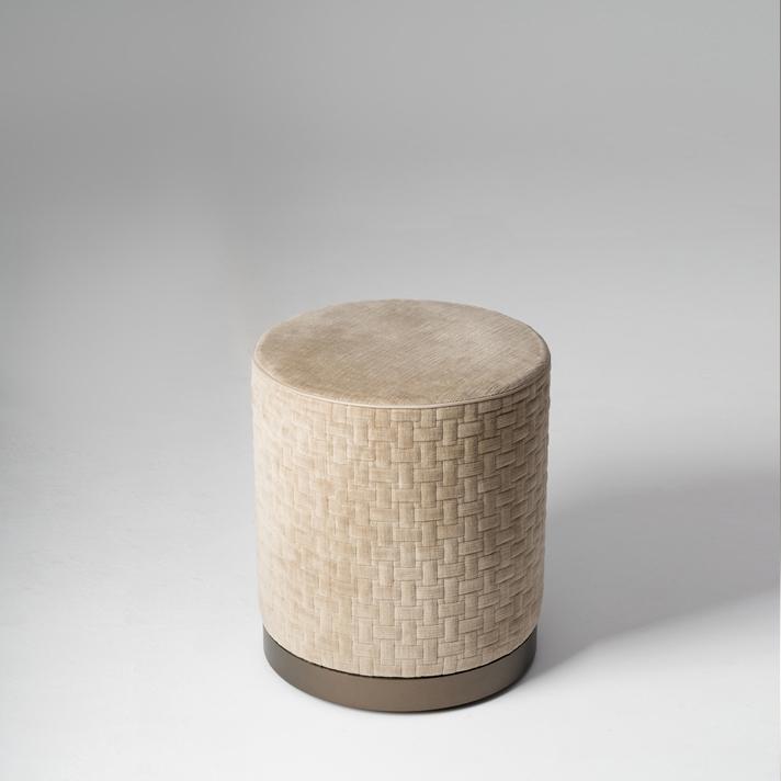 LA PARIGINA - Cylindrical pouf