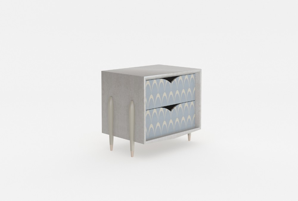 PEACOCK - Bedside table